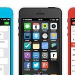 "iPhone 5S/6 sous iOS 7 : Concept Interactif ""Design Plat"" (images)"