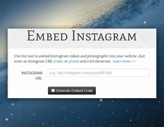 2 Webpp Embed Instagram Mac PC Web Webapp Embed Instagram : Intégrer Videos/Photos Instagram dans une Page Web (gratuit)