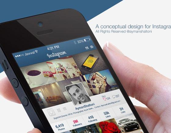 Concept iOS 7 Instagram Ayman Shaltoni 1 - Concept iOS 7 par Ayman Shaltoni : Instagram Revu et Corrigé (images)