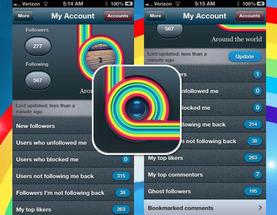 My Followers Instagram iPhone iPad 3 - My Followers Instagram iPhone iPad : Trouver qui se Désabonne ou vous Bloque (gratuit)