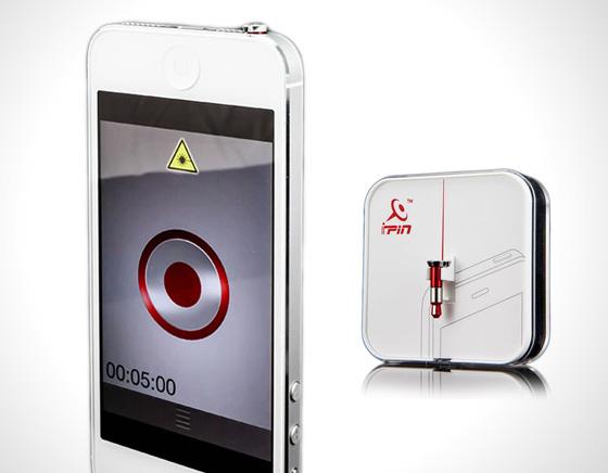 Accessoire iPin iPhone Pointeur Laser Faisceau 1 - iPin iPhone : Accessoire Pointeur Laser à Faisceau Rouge (vidéo)