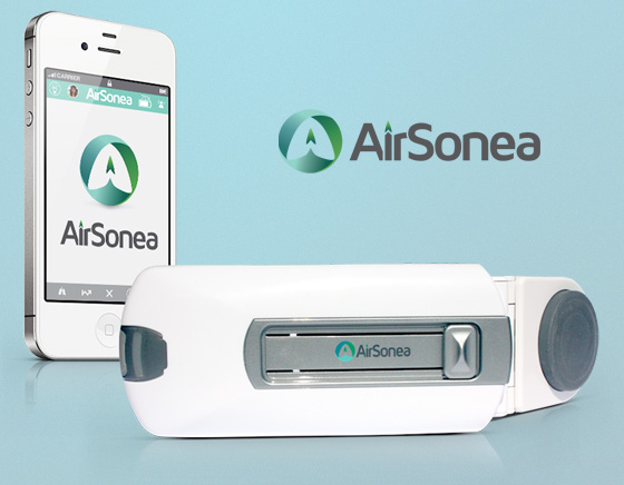AsthmaSense Accessoire AirSonea Wheeze Monitor iPhone Asthme Asthmatiques 1 AsthmaSense AirSonea Wheeze Monitor iPhone : Dispositif pour Asthmatiques (video)