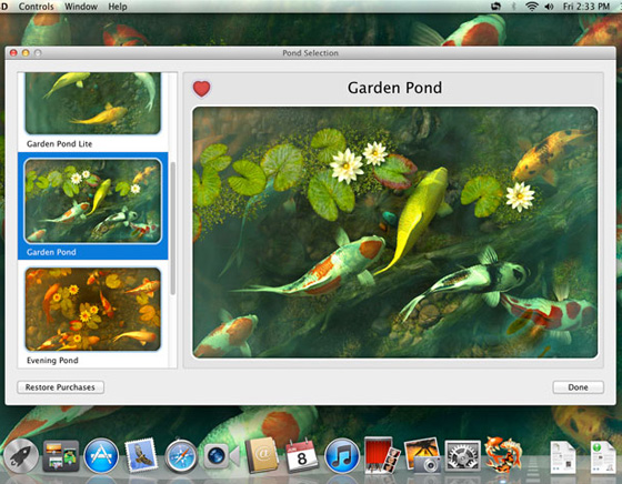 Koi-Pond-3D-Mac-OSX-Aquarium-Poissons-Wallpaper-2