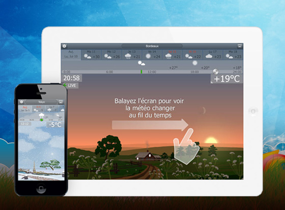 YoWindow iPhone iPad 1 - YoWindow iPhone iPad - Station Météo en Animations (gratuit)