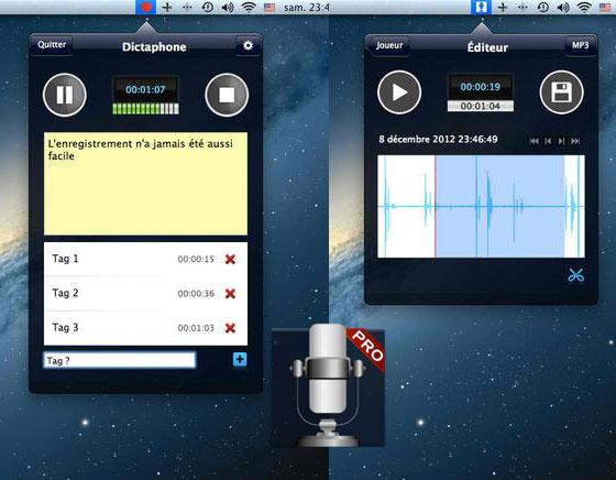 Dictaphone Pro Mac OSX 1 Dictaphone Pro Mac OSX : Dictaphone et Mémo Vocal