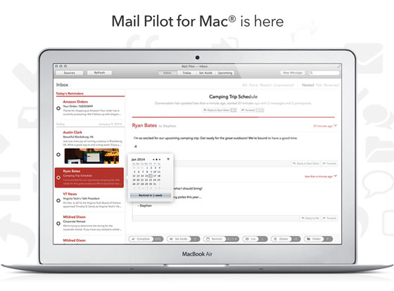 Mail Pilot Mac OSX 1 Mail Pilot Mac OSX : Nouvelle Alternative à Apple Mail Dispo (video)