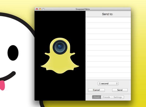 Snapped beta OSX : 1er Client SnapChat pour Mac (gratuit