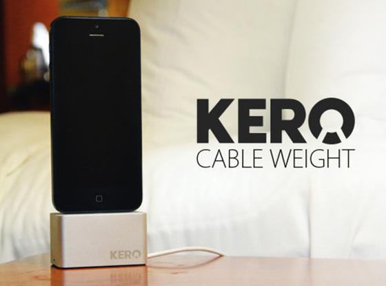 KERO iPhone Kickstarter Support Dock Cable Lightning 1 - KERO iPhone Kickstarter : Range Cable Lightning et Dock (video)
