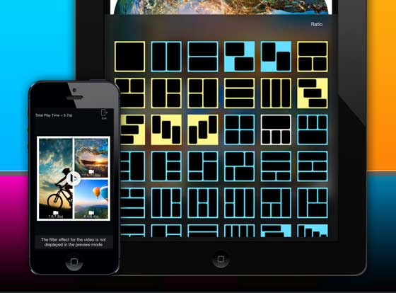 VideoFrame iPhone iPad 1 VideoFrame iPhone iPad : Montage et Collage Video avec Effets (nouveau)