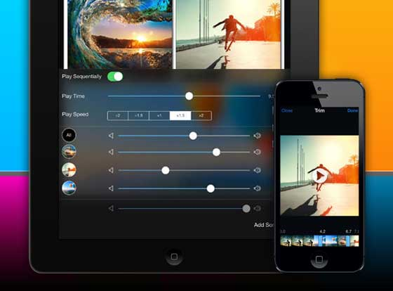 VideoFrame iPhone iPad 2 VideoFrame iPhone iPad : Montage et Collage Video avec Effets (nouveau)