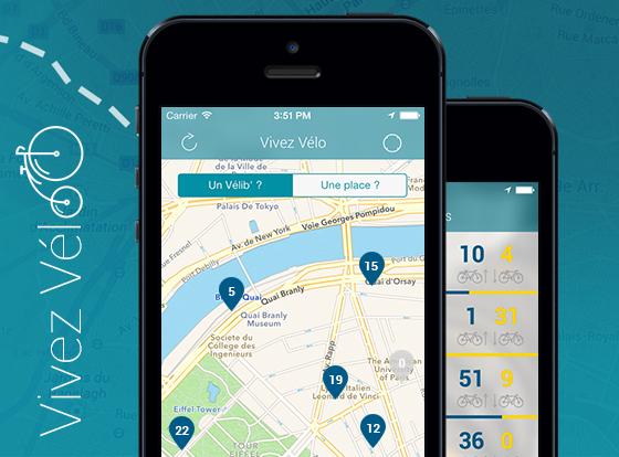 Vivez Velo iPhone Gratui Paris Velib Gratuit - Vivez Velo iPhone : Indispensable pour Paris à Velo et en Velib (gratuit)