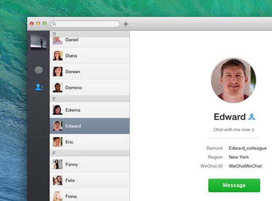 Messagerie Instantanée WeChat : Client Officiel pour Mac OSX