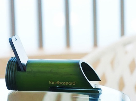 Loudbasstard-iPhone-Amplificateur-Passif-Tube-Bambou-1