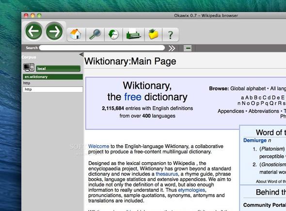 Okawix Mac OSX Wikipedia 1 Okawix Mac OSX : Telechargez tout Wikipedia sur votre Ordinateur (gratuit)