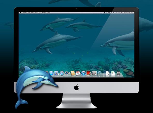 Dolphins 3D Mac OSX - Dolphins 3D Mac - Dauphins 3D Animés en Economiseur d'Ecran (gratuit)