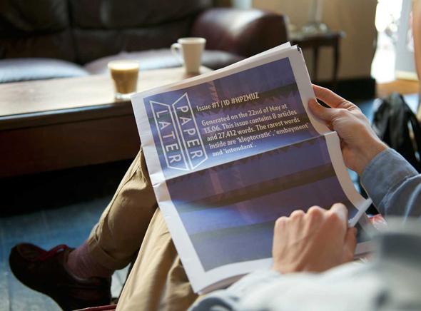 PaperLate com Journal Internet Papier 2 PaperLater, Faites Imprimer et Livrer votre Journal composé dArticles Internet (video)