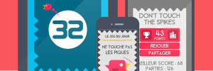 Don't Touch the Spikes iPhone iPad : Un Jeu d'Oiseau qui Rend Accro (gratuit)