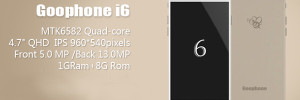 GooPhone i6, un Vrai Clone d'iPhone 6 en Vente à 150 $ (images)