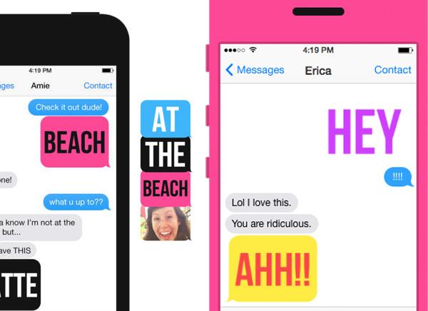 Ultratext iPhone 1 - Ultratext iPhone : Vos Messages en Typographies et GIF animés (gratuit)