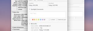 """Concept OSX Yosemite : Nouveau Design pour """"Get Info"""" (images)"""