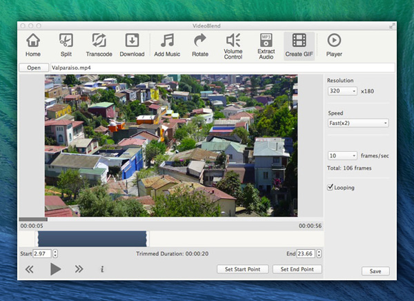 VideoBlend Mac OSX 1 - VideoBlend Mac - Edition et Montage Video Pro (gratuit)