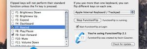 FunctionFlip Mac OSX : Changer les Touches de Fonctions de vos MacBook (gratuit)