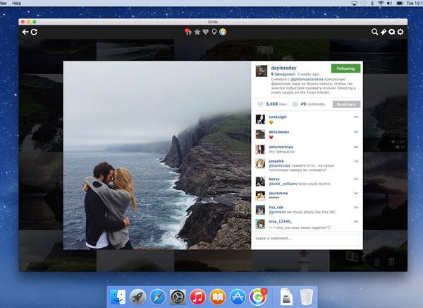 GRIDS Instagram Mac OSX 3 - GRIDS Mac OSX : Tout Instagram en HD sur votre Bureau (nouveau)