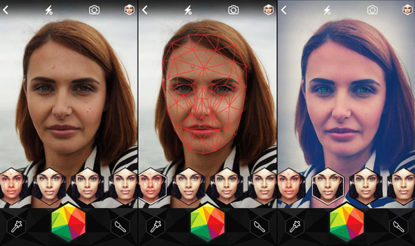 Looksery iPhone Messagerie Video 3D Mapping 3 - Messagerie Video Looksery pour Changer de Visage en Live (gratuit)