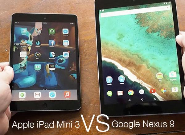 Comparatif iPad mini 2 vs Nexus 9  - iPad mini 3 vs Nexus 9 : Laquelle aura les Faveurs du Pere Noel ?! (vidéo)