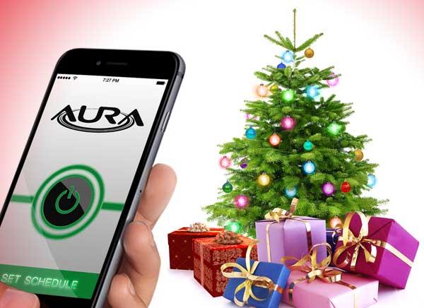 AURA, Boules de Noel LED Connectées en WiFi pour iOS (video