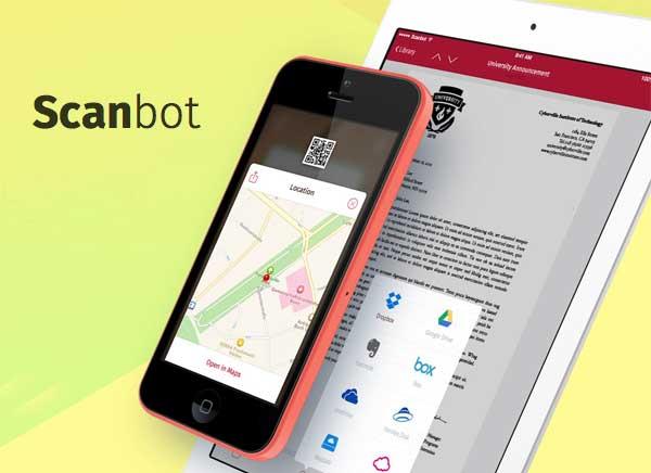 Scanbot iPhone iPad : Scanner avec Lecteur de Codes QR (gratuit)