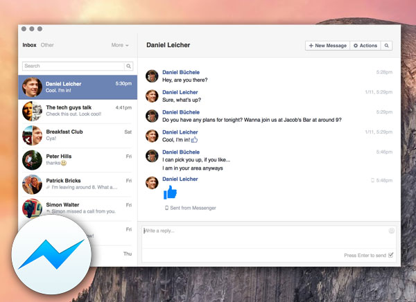 Goofy Mac : Client Facebook Messenger (gratuit)