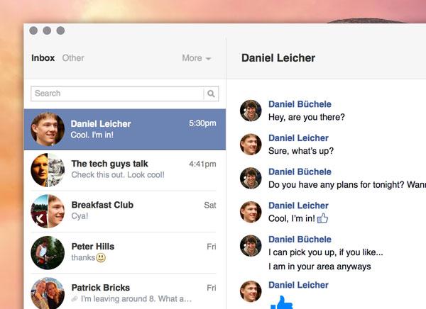 Goofy Mac OSX Client Facebook Messenger 2 - Goofy Mac : Client Facebook Messenger (gratuit)