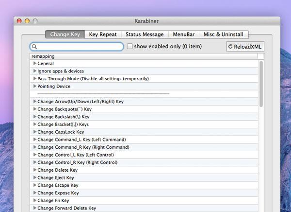 Karabiner Mac OSX : Redéfinir les Touches du Clavier (gratuit