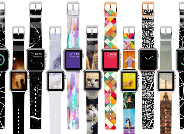 bracelet montre apple watch instagram photo 3 - Bracelet Apple Watch à Personnaliser avec vos Photos Instagram (images)