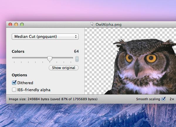 imagealpha mac osx 1 - ImageAlpha Mac OSX : Optimisation des Images PNG pour le Web (gratuit)