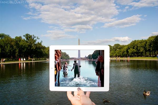 film culte lieu tournage ipad fangirlquest 0 - Ces Filles et leur iPad sur le Lieu de Tournage des Films Cultes (images)