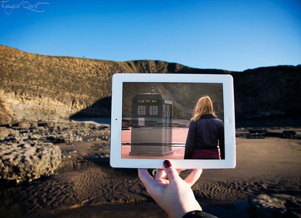 film culte lieu tournage ipad fangirlquest 2 - Ces Filles et leur iPad sur le Lieu de Tournage des Films Cultes (images)
