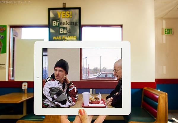 film culte lieu tournage ipad fangirlquest 3 - Ces Filles et leur iPad sur le Lieu de Tournage des Films Cultes (images)