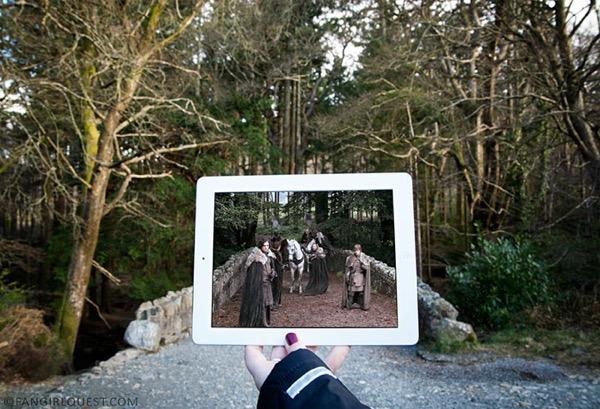 film culte lieu tournage ipad fangirlquest 4 - Ces Filles et leur iPad sur le Lieu de Tournage des Films Cultes (images)