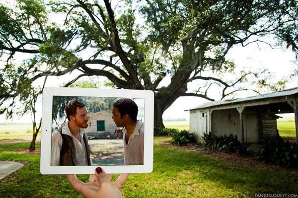 film culte lieu tournage ipad fangirlquest 5 - Ces Filles et leur iPad sur le Lieu de Tournage des Films Cultes (images)