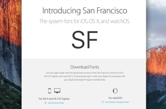 apple san francisco system fonts police 1 331x219 - Telecharger la Police San Francisco OSX El Capitan, iOS 9, WatchOS (gratuit)