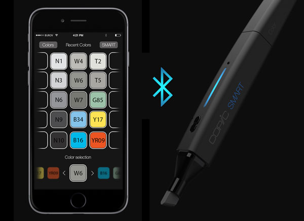 copic smart stylo jet encre burov art 2 - COPiC Smart, Feutre Connecté aux Millions de Couleurs (images)