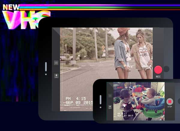 Camcorder iPhone iPad - VHS Camcorder iPhone iPad - Effets Video Rétro Années 80-90 (gratuit)