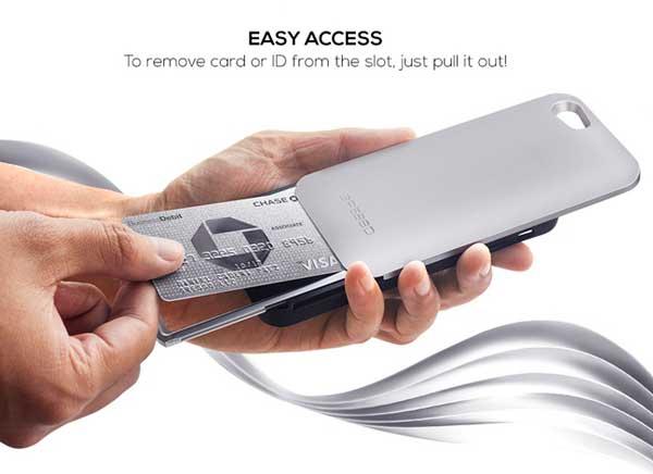 gresso protection porte carte iphone 6 6s 3 - Gresso, Protection Phone 6s avec Porte-Cartes Automatique (video)