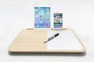 iskelter tab pupitre support iphone ipad pro bois 3 331x219 - Offrez un Pupitre en Bois à votre iPad Pro et iPhone 6s (images)