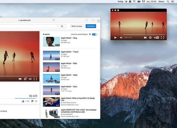 Hang Mac OSX 1 - Hang Mac OSX : Visionner vos Vidéos dans la Barre des Menus (gratuit)