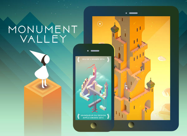 Monument Valley iPhone iPad - Monument Valley 2 iPhone iPad - Un Must des Jeux Video (gratuit)