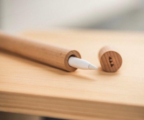 stylet apple pencil protection bois wyp 5 - Le Stylet Apple Pencil à sa Protection en Bois Véritable (images)