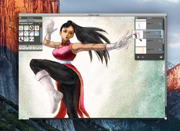 My PaintBrush Pro Mac OSX 1 - My PaintBrush Pro Mac - Logiciel de Dessin et Peinture